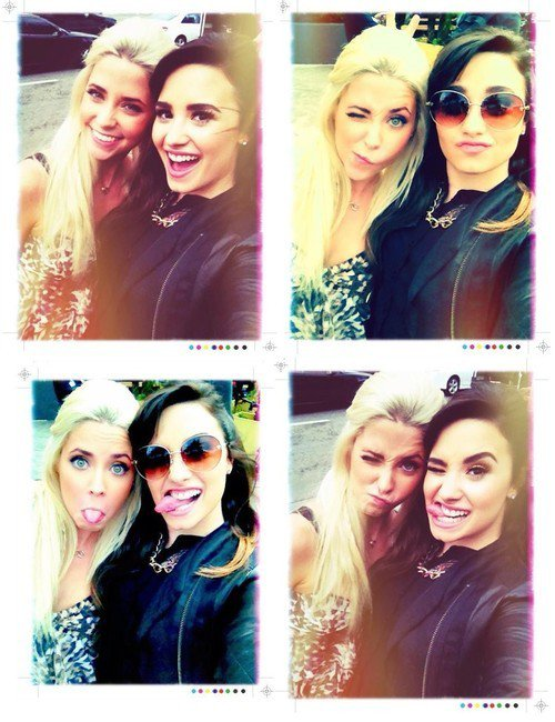Le 1er Décembre, Demi a passé sa journée avec Cece Frey, une finaliste de X-Factor, que Demi soutient !