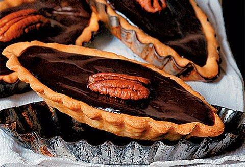 Barquettes chocolat-noix de pécan