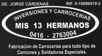 INVERSIONES Y CARROCERIA MIS 13 HERMANOS BIENVENIDOS A NUESTRA PAGINA