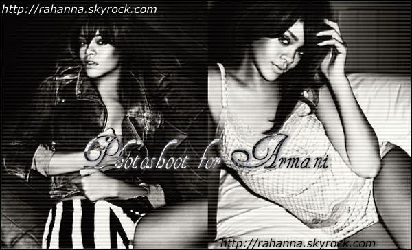 [a=]. Découvrez dès a présent le nouveau photoshoot promotionnel pour Armani !  [a=].