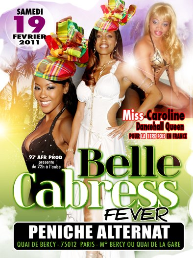 belle cabress a la peniche alterna 100%tropical 100%sound system avec la dancehall queen de french gayana pour la 1ère foi en france