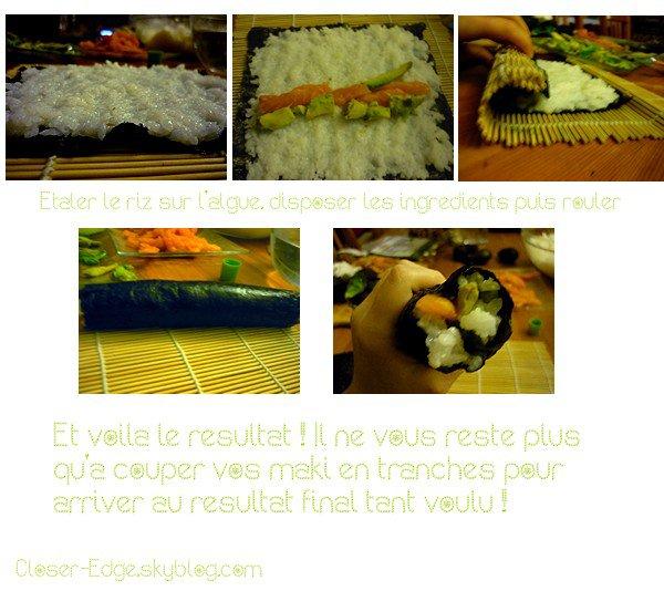 Comment faire des maki sushis  ? by Murasaki-sama