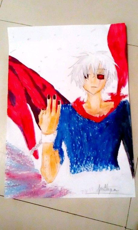 Je viens de finir ce nouveau dessin de Kaneki de Tokyo Ghoul vos avis les amis ? ♥
