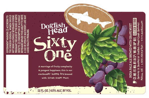 Review : Dogfish Head Sixty One