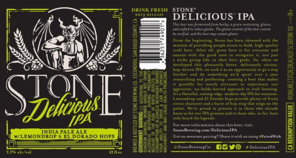 Review :Stone Delicious IPA