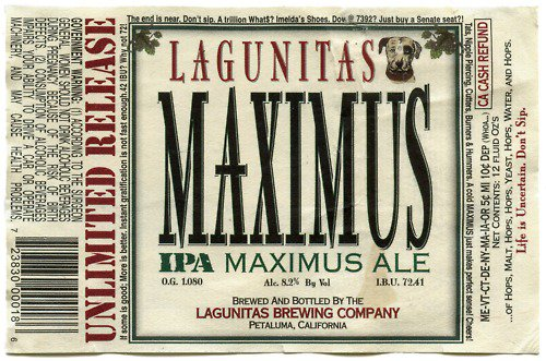 Review :  Lagunitas Maximus