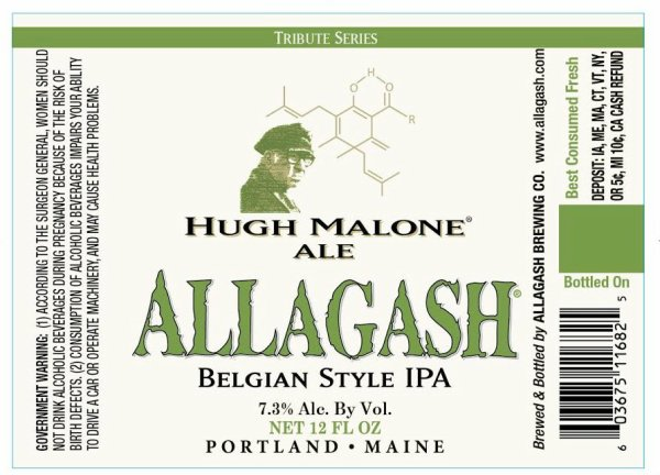 Review : Allagash Hugh Malone Ale