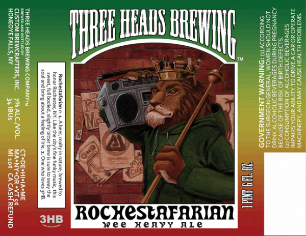 Review : Three Heads Rochestafarian Wee Heavy Ale