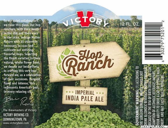Review : Victory Hop Ranch Imperial IPA