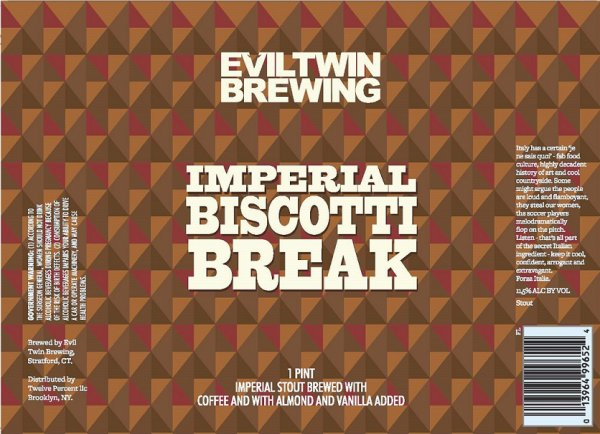 Review : Evil Twin Imperial Biscotti Break