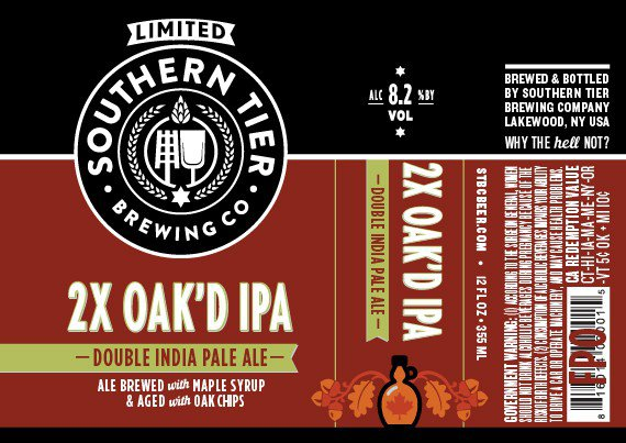 Review : Southern Tier 2X Oak'd IPA