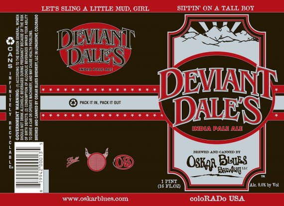 Review : Oskar Blues Deviant Dale's