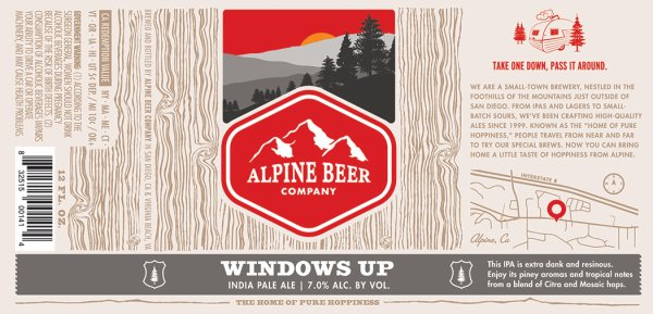 Review : Alpine Beer Company Windows Up