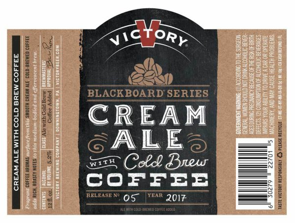 Review : Victory Blackboard Series #5 Cream Ale With Cold Brewed Coffee