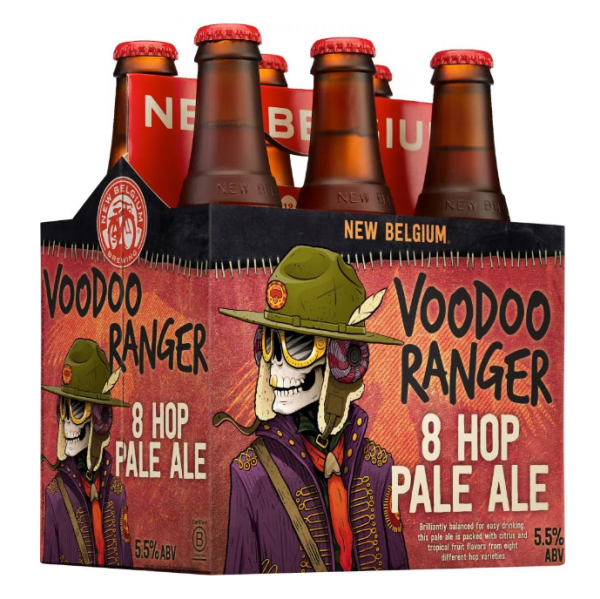 Review : New Belgium Voodoo Ranger 8 Hop Pale Ale