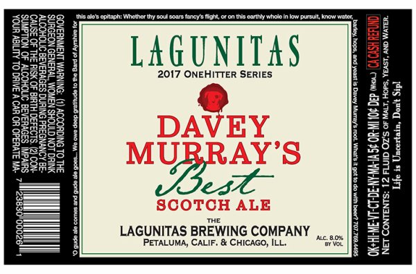 Review : Lagunitas Davey Murray's Best Scotch Ale