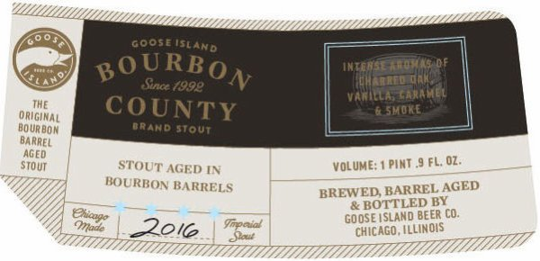 Review : Goose Island Bourbon County Stout 2016