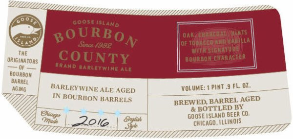 Review : Goose Island Bourbon County Barleywine 2016