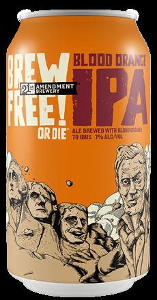 Review: 21st Amendment Blood Orange Brew Free! or Die IPA