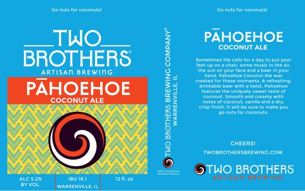 Review: Two Brothers Pahoehoe Coconut Ale