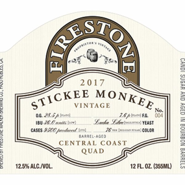 Review:  Firestone Walker Stickee Monkee 2017