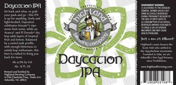 Review: Highland Daycation IPA