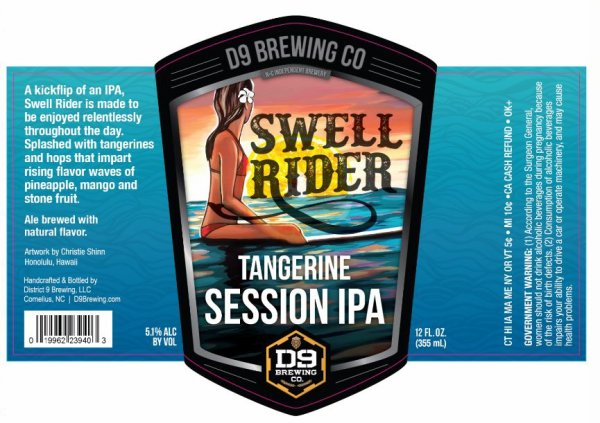 Review: D9 Swell Rider Session IPA