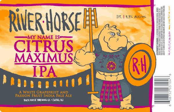 Review: River Horse My Name Is Citrus Maximus IPA