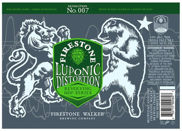 Review: Firestone Walker Luponic Distortion Revolution No 007