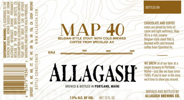Review: Allagash Brewing Map 40