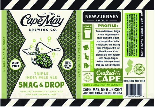 Review: Cape May Snag & Drop Triple IPA