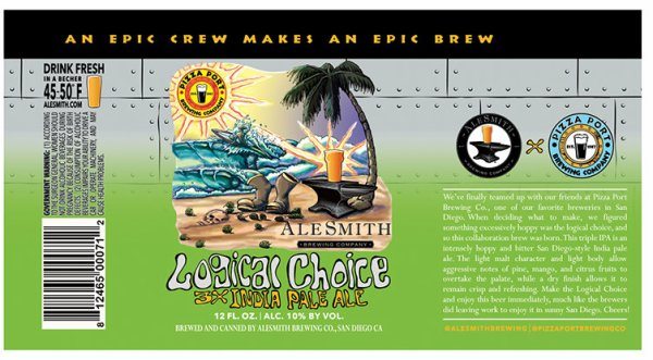 Review: AleSmith - Pizza Port Logical Choice