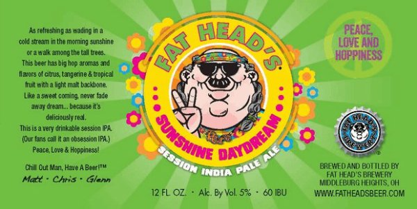 Review: Fat Head's Sunshine Daydream Session IPA