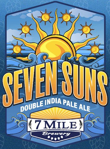 Review: 7 Mile Brewery Seven Suns Double IPA