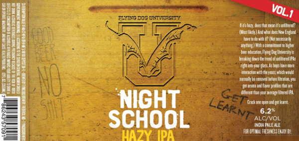 Review: Flying Dog University Night School Hazy IPA