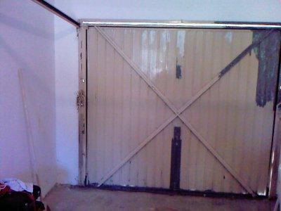 petite rénovation porte de garage