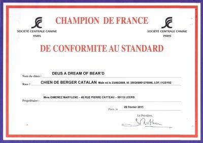 Titre champion de France