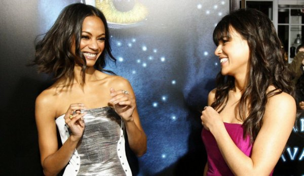 Zoe with Michelle *.....* ❤❤❤❤ #Avatar #ZoeSaldana #MichelleRodriguez