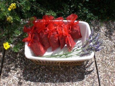Première série de sachets de lavande