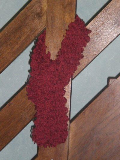 Mon écharpe froufrou terminée...