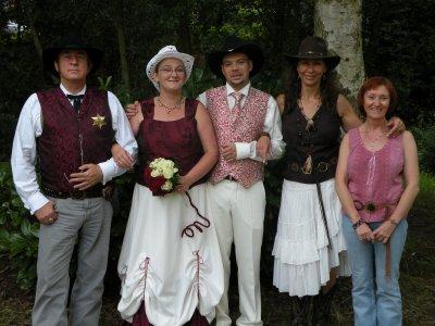 le marshal ,les mariés,Lydia et Joel
