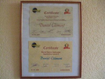 Certificats d'instruteur de l'ACWDB