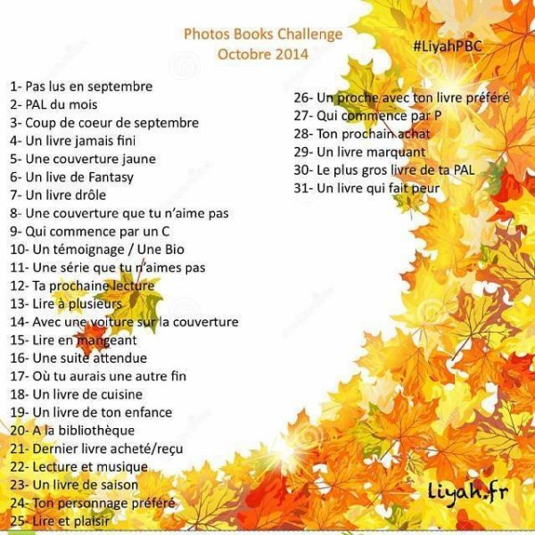 Photos Books Challenge: octobre 2014