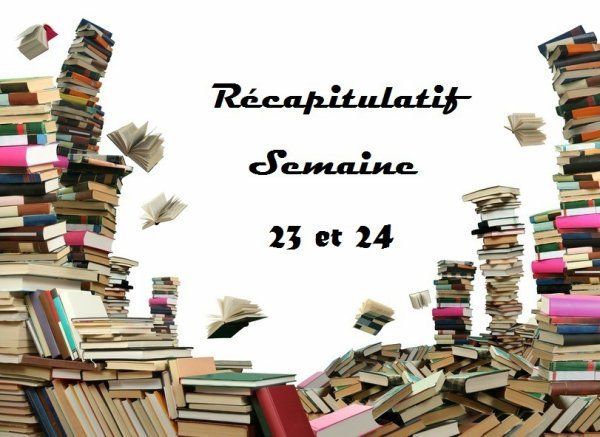 Récapitulatif Semaine 23 du 1er au 7 juin 2015 et 24 du 8 au 14 juin 2015