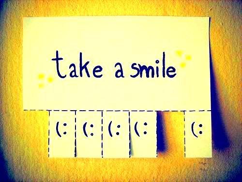Narrête jamais de sourire, même si tu es triste, parce