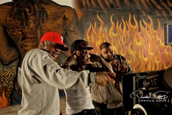 "26.  Dj Khaled, Lil Wayne, Rick Ross et T-Pain sur le clip ""Welcome To My Hood"""