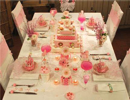 D corations de table mariage bapt me communions for Centre de table gourmandise