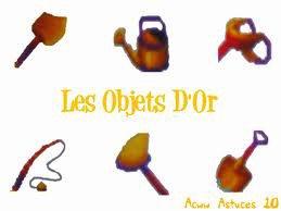 Objets Dorés+ Explications pour avoir ces Objets Dorés