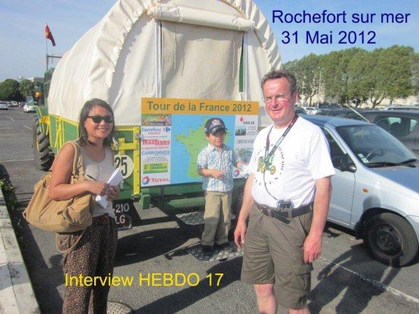 31° jour : Le 31 mai  Je suis à Rochefort.