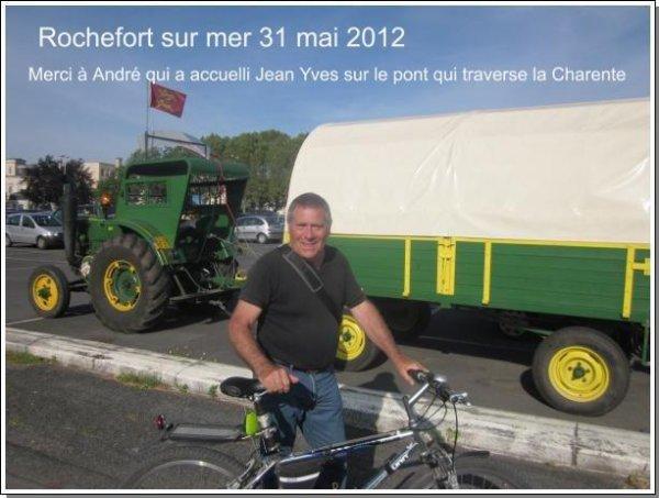 Tour de la France en Tracteur SFV de 1953, 31 mai, étape à Rochefort